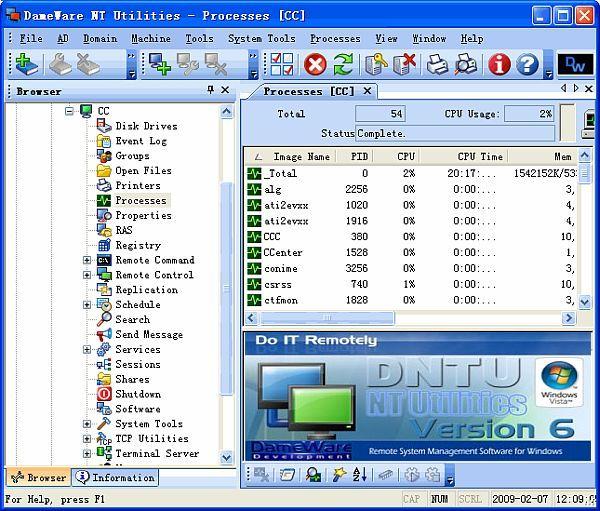 dameware portable windows 7