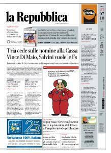 la Repubblica - 21 Luglio 2018