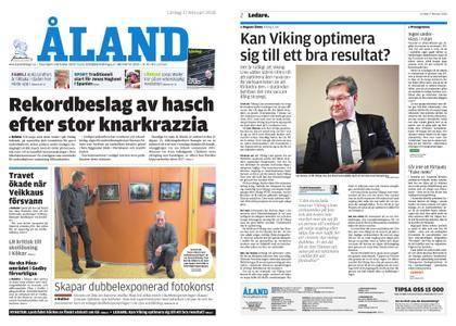 Ålandstidningen – 17 februari 2018