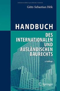 Handbuch des internationalen und ausländischen Baurechts (repost)