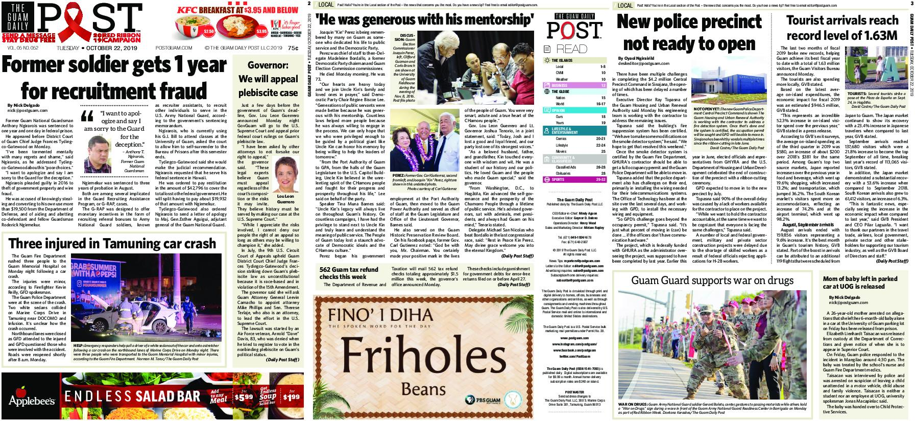 The Guam Daily Post – October 22, 2019