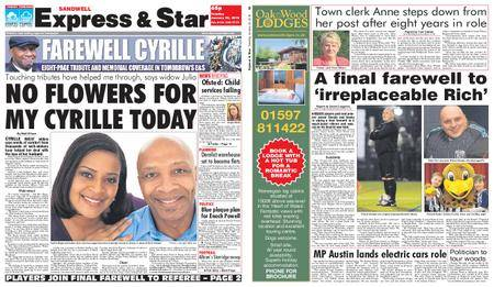 Express and Star Sandwell Edition – January 30, 2018