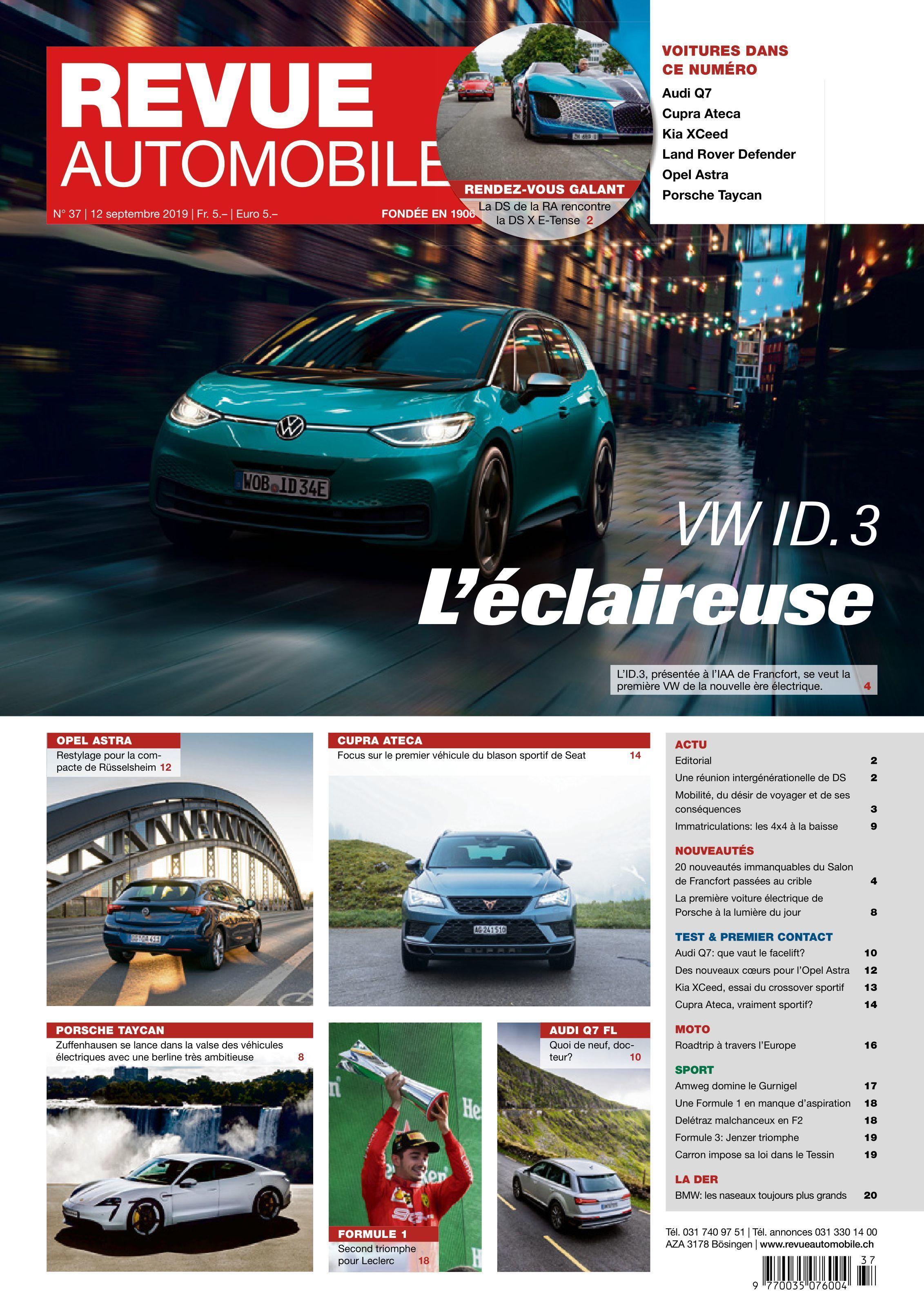 Revue Automobile – 12 septembre 2019