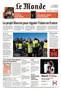 Le Monde du Samedi 24 Novembre 2018