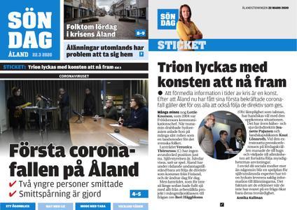 Ålandstidningen – 22 mars 2020