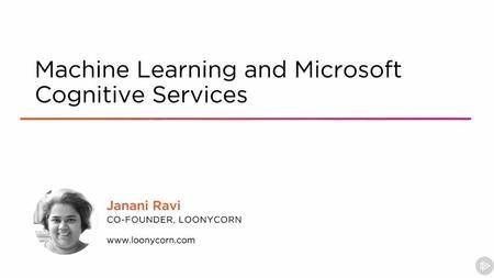 Machine Learning and Microsoft Cognitive Services