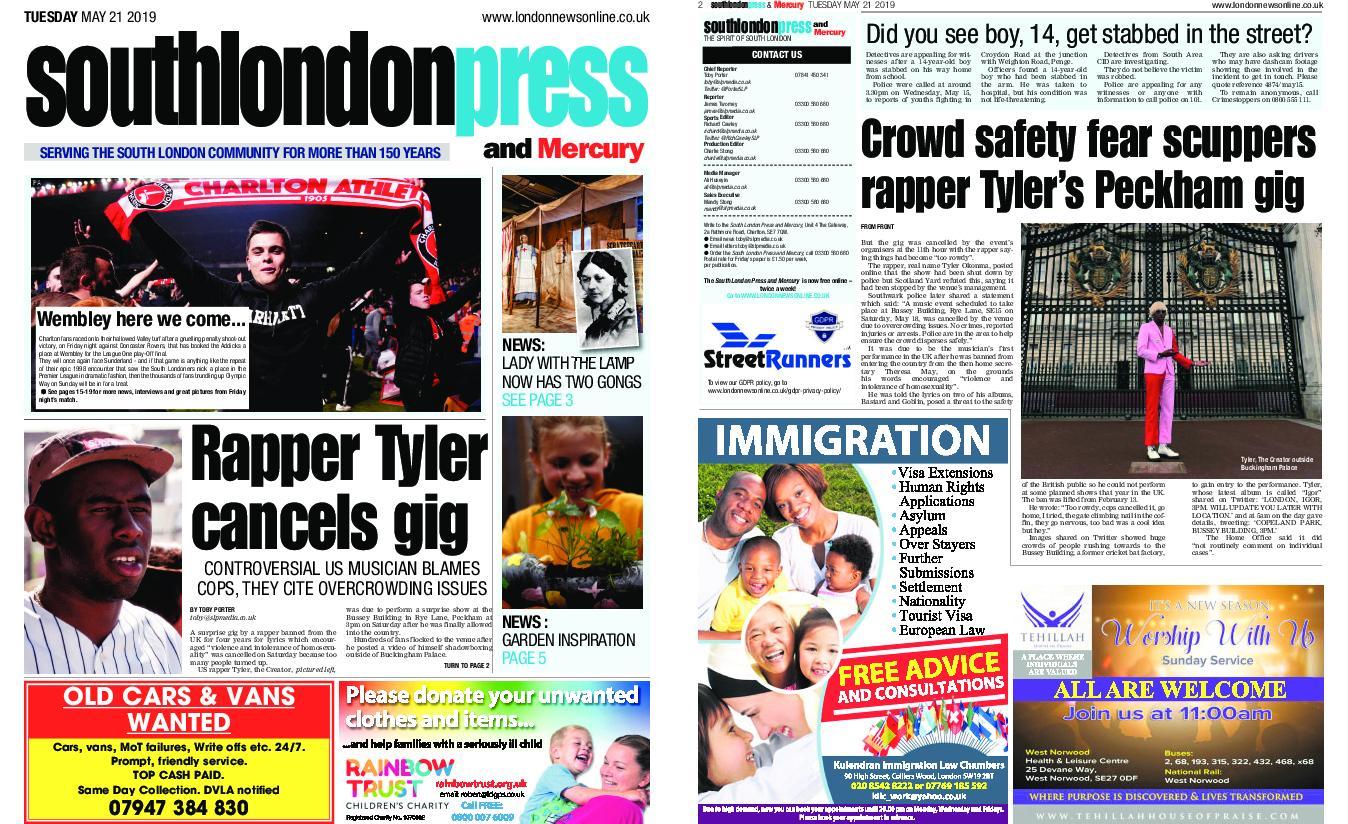 South London Press – May 21, 2019