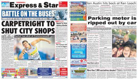 Express and Star Sandwell Edition – April 13, 2018