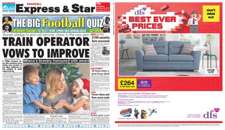 Express and Star Sandwell Edition – December 26, 2018