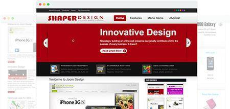 JoomShaper - Design v1.5 - Web 2.0 Joomla Template