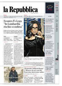 la Repubblica - 9 Gennaio 2018