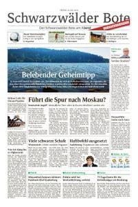 Schwarzwälder Bote St. Georgen, Triberg, Furtwangen - 20. Juli 2018
