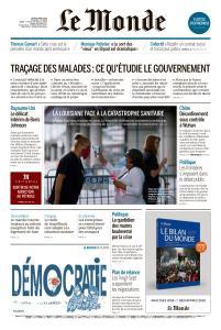 Le Monde du Jeudi 9 Avril 2020