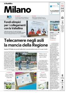 la Repubblica Milano - 2 Aprile 2019