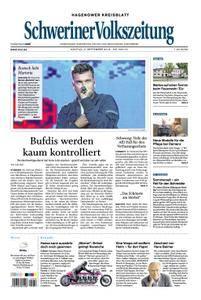Schweriner Volkszeitung Hagenower Kreisblatt - 03. September 2018