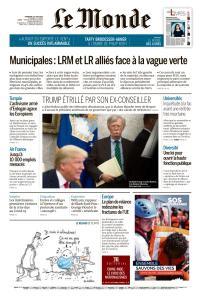 Le Monde du Vendredi 19 Juin 2020