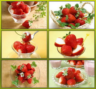 Fresh strawberries - wallpaper