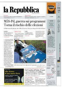la Repubblica - 27 Aprile 2018
