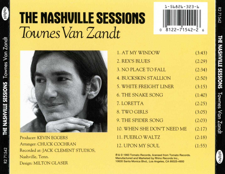 Townes Van Zandt The Nashville Sessions 1993 Rhino R2