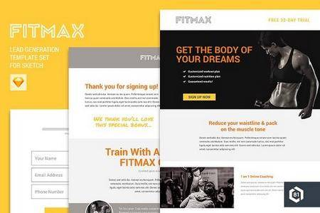 CM - FITMAX Lead Generation Template Set 1145711