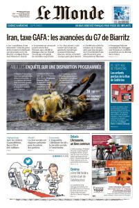 Le Monde du Mercredi 28 Août 2019