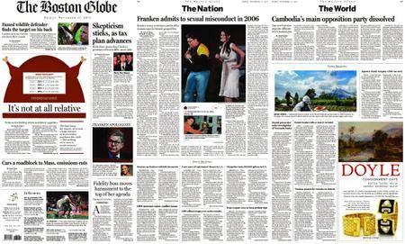 The Boston Globe – November 17, 2017