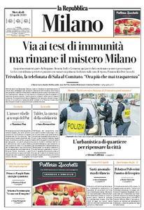 la Repubblica Milano - 22 Aprile 2020