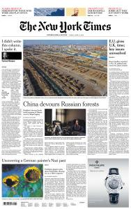 International New York Times - 12 April 2019