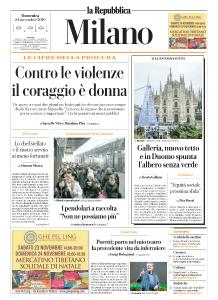 la Repubblica Milano - 24 Novembre 2019