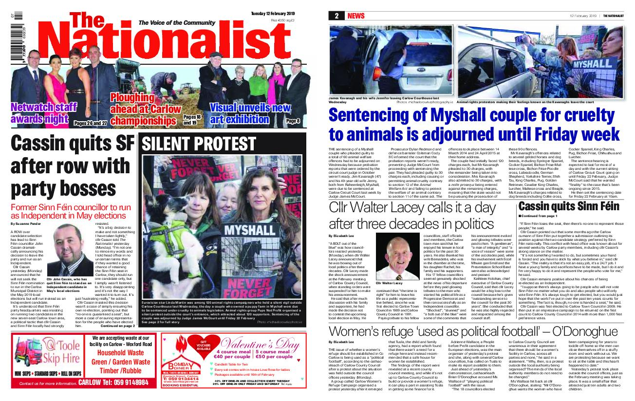 The Nationalist – February 12, 2019