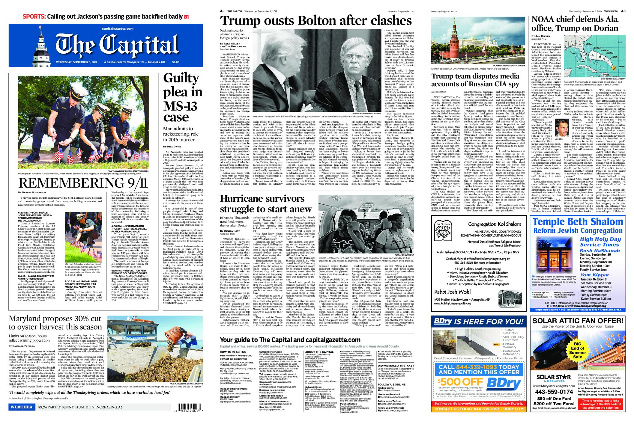 The Capital – September 11, 2019