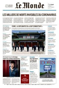Le Monde du Dimanche 3 et Lundi 4 Mai 2020