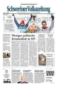 Schweriner Volkszeitung Hagenower Kreisblatt - 12. Februar 2018