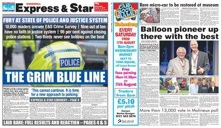 Express and Star Sandwell Edition – August 08, 2018