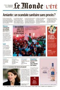 Le Monde du Dimanche 21 et Lundi 22 Juillet 2019