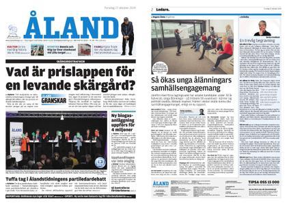 Ålandstidningen – 17 oktober 2019