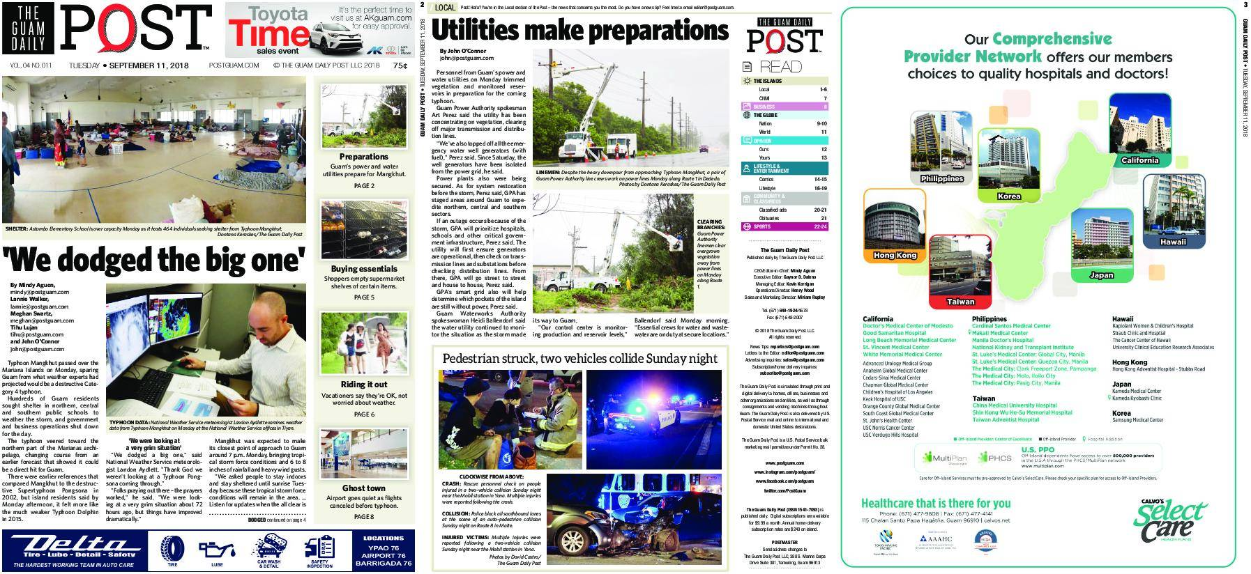 The Guam Daily Post – September 11, 2018