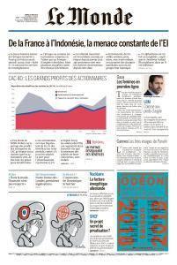 Le Monde du Mardi 15 Mai 2018