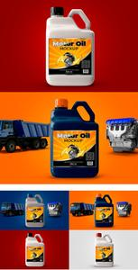 CreativeMarket - Bottle Motor Oil Mockup - 3748950