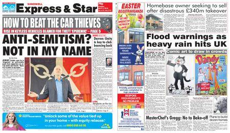 Express and Star Sandwell Edition – April 03, 2018