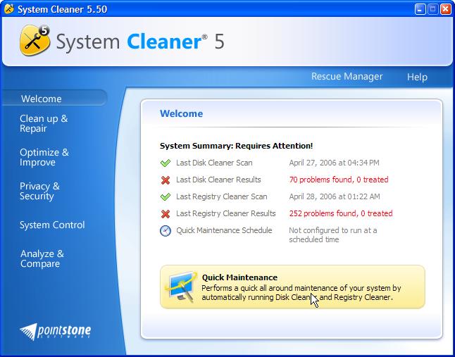 System Cleaner ver. 5.50