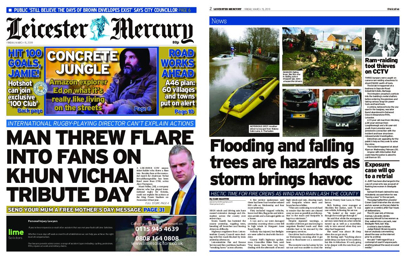 Leicester Mercury – March 15, 2019