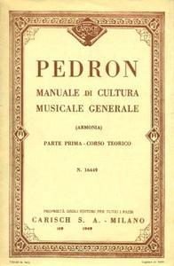 """Carlo Pedron, """"Manuale di cultura musicale generale (armonia)"""", vol. 1 & 2"""