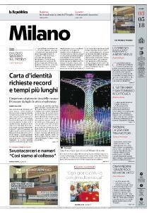 la Repubblica Milano - 3 Maggio 2018