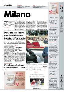 la Repubblica Milano - 25 Maggio 2018