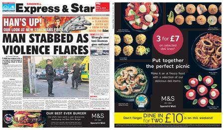 Express and Star Sandwell Edition – May 25, 2018
