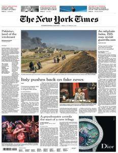 International New York Times - October 20, 2017