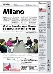 la Repubblica Milano - 1 Marzo 2018