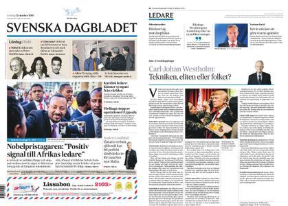 Svenska Dagbladet – 12 oktober 2019