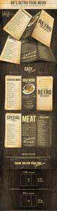 GR - 80s Retro Trifold Menu US Letter and A4